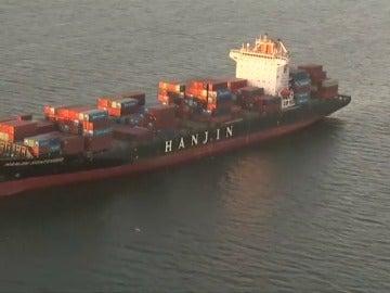 Frame 31.361726 de: Noventa buques cargados con mercancías de China están bloqueados en alta mar