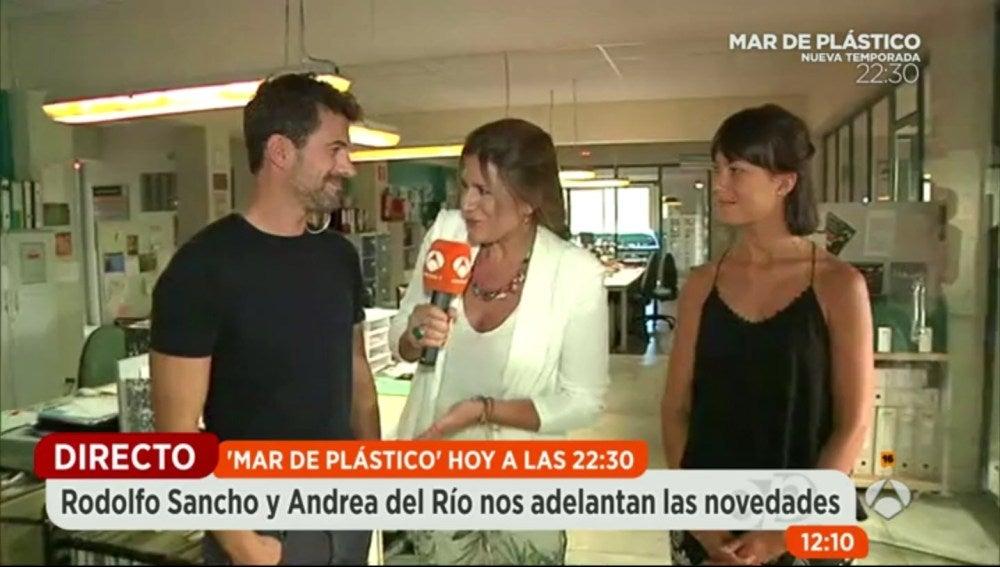 Rodolfo Sancho y Andrea en Espejo Público