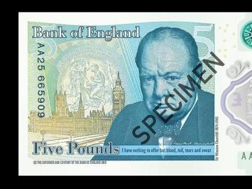 Cuenta con la efigie del exministro británico Winston Churchill