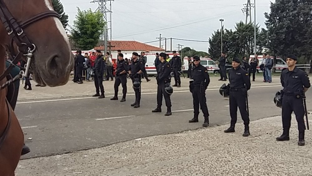 Efectivos de la Policía preparados por el 'Toro de la Peña'