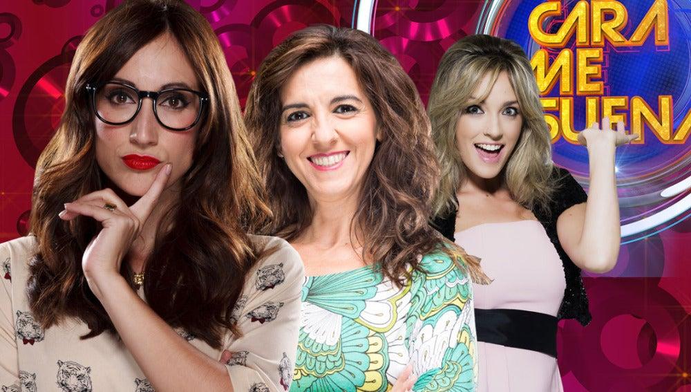 Ana Morgade, Llum Barrera y Anna Simon en 'Tu cara me suena'