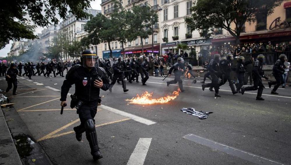 Manifestaciones en Paris