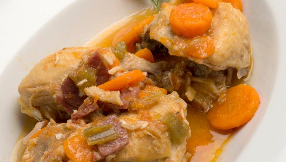 Pollo guisado en Karlos Arguiñano