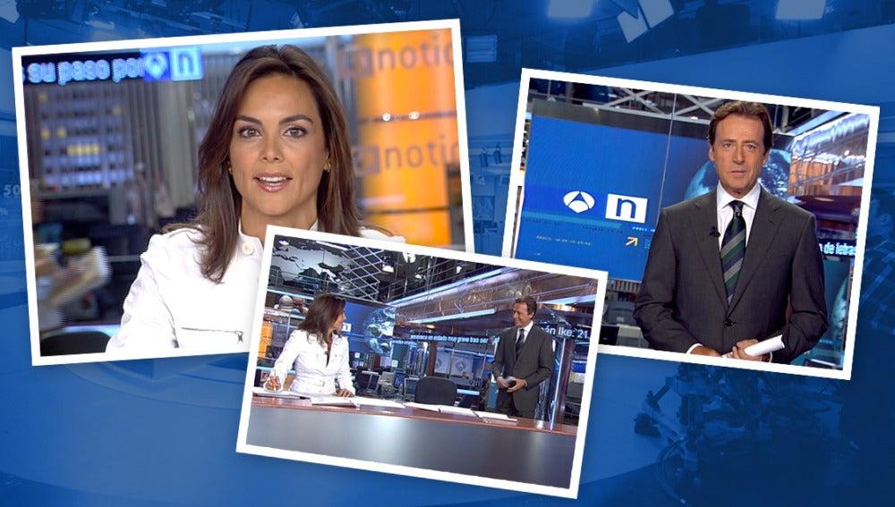 Matías Prats y Mónica Carrillo presentan Noticias 2 en el año 2008