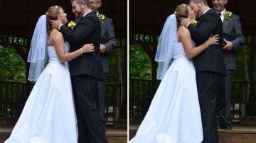 Justice y Jeremy el día de su segunda boda