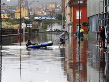 Avilés inundada