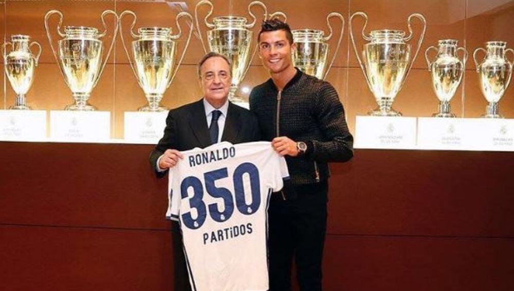 Cristiano Ronaldo suma 350 partidos con el Real Madrid