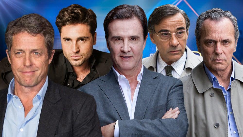 ugh Grant, Bustamante, José Coronado y Eduardo Fernández y José Ramón de la Morena en 'El Hormiguero 3.0'