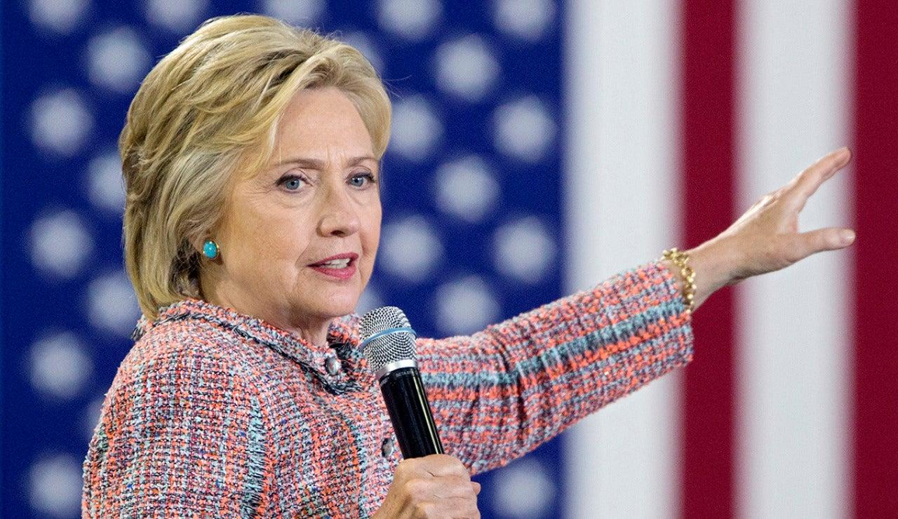 Hillary Clinton en un acto de campaña