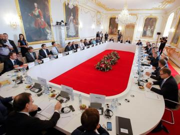 Vista general durante la cumbre informal de jefes de Estado y de Gobierno de la Unión Europea que tiene lugar en Bratislava.