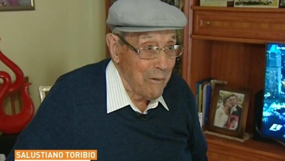 Salustiano Toribio, el aficionado más longevo del Leganés