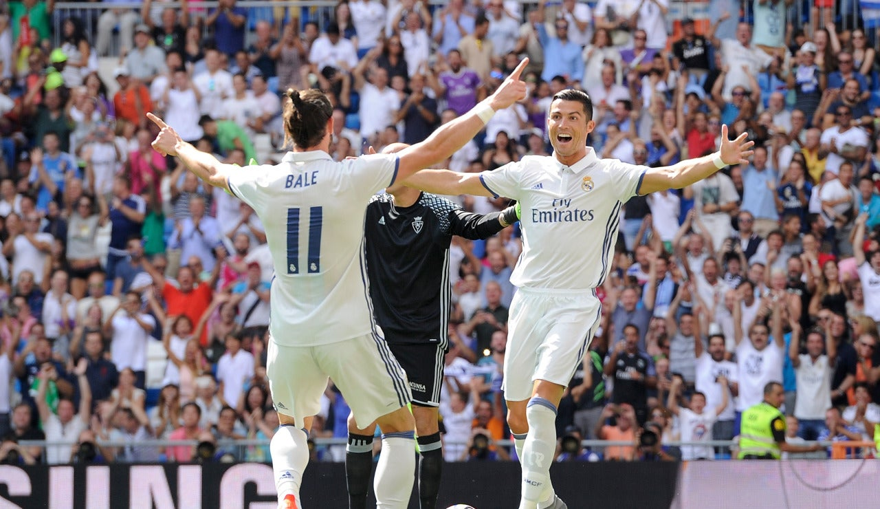 Cristiano y Bale celebran un gol