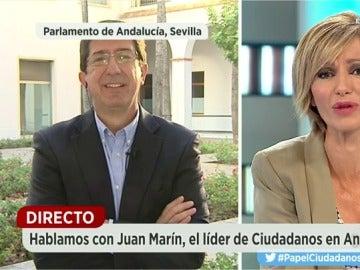 Juan Marín durante una entrevista en Espejo Público