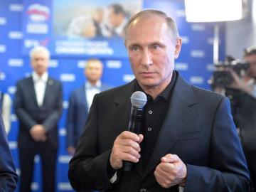 Vladimir Putin tras las elecciones parlamentarias