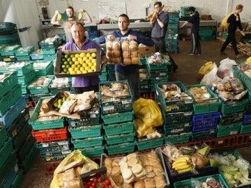 El supermercado de sobras en Leeds, Gran Bretaña