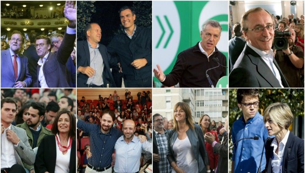 Candidatos elecciones Galicia y País Vasco