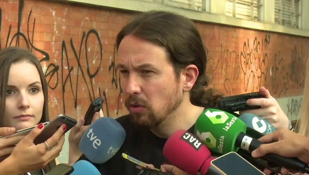 Frame 16.42484 de: Pablo Iglesias espera que Sánchez se atreva a formar gobierno con Podemos