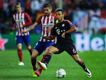 Thiago en las semis de la Champions de la temporada pasada ante el Atlético.