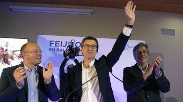 Alberto Núñez Feijóo, vencedor de las elecciones gallegas de 2012