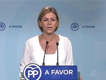 """Frame 4.431056 de: Cospedal: """"Queda claro que los vascos y los gallegos apuestan por la seguridad y la estabilidad"""""""