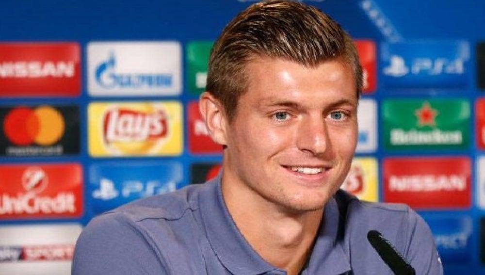Toni Kroos, en rueda de prensa previa al partido de Champions League ante el Borussia