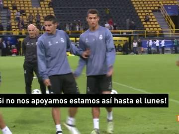 Cristiano, de mal humor en Dortmund