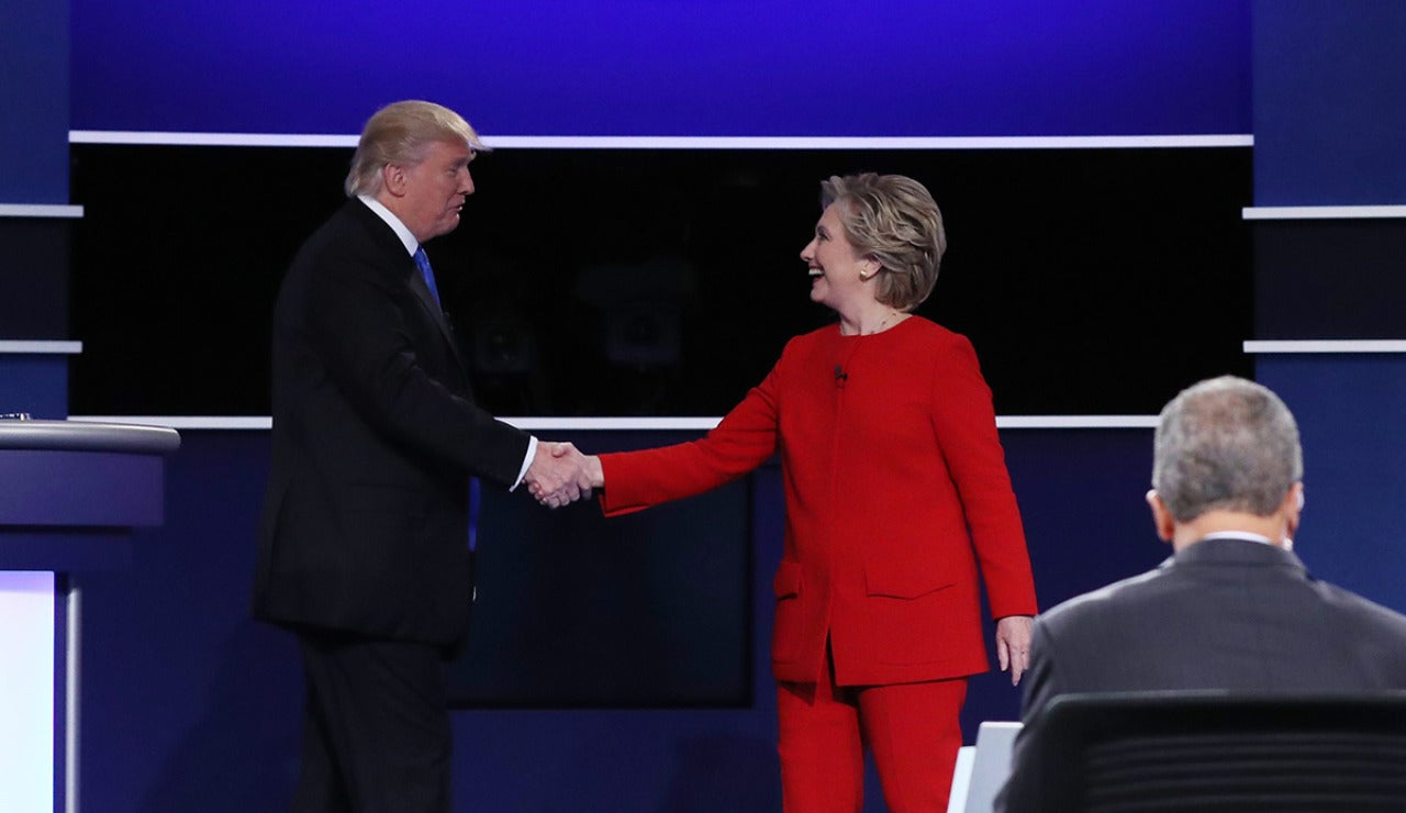 Primer cara a cara entre Clinton y Trump