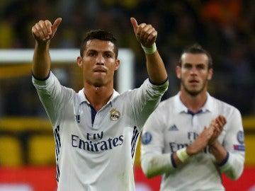 Cristiano Ronaldo, al final del partido