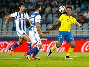 Sergio Araujo, en un partido ante la Real Sociedad