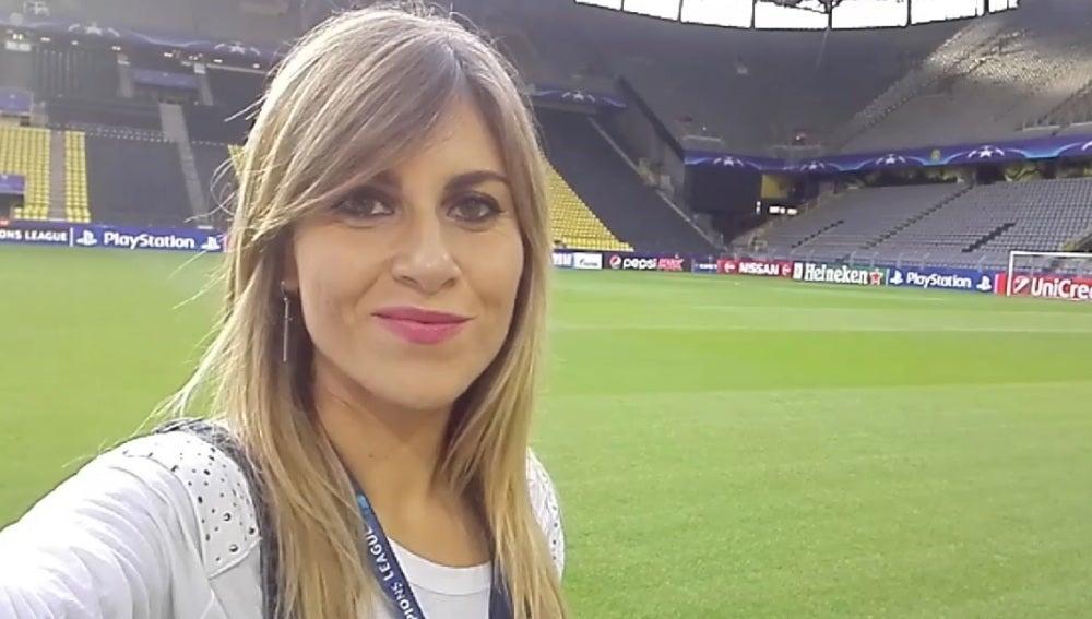 Susana Guasch, en el Westfalenstadion