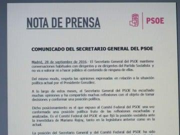 """Frame 1.326271 de: Pedro Sánchez contesta a Felipe González: """"El voto en contra fue una decisión respaldada por el Comité Federal"""""""