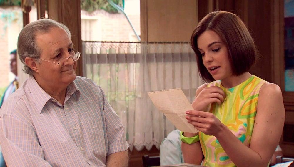 María recibe la carta de amor de Bruno