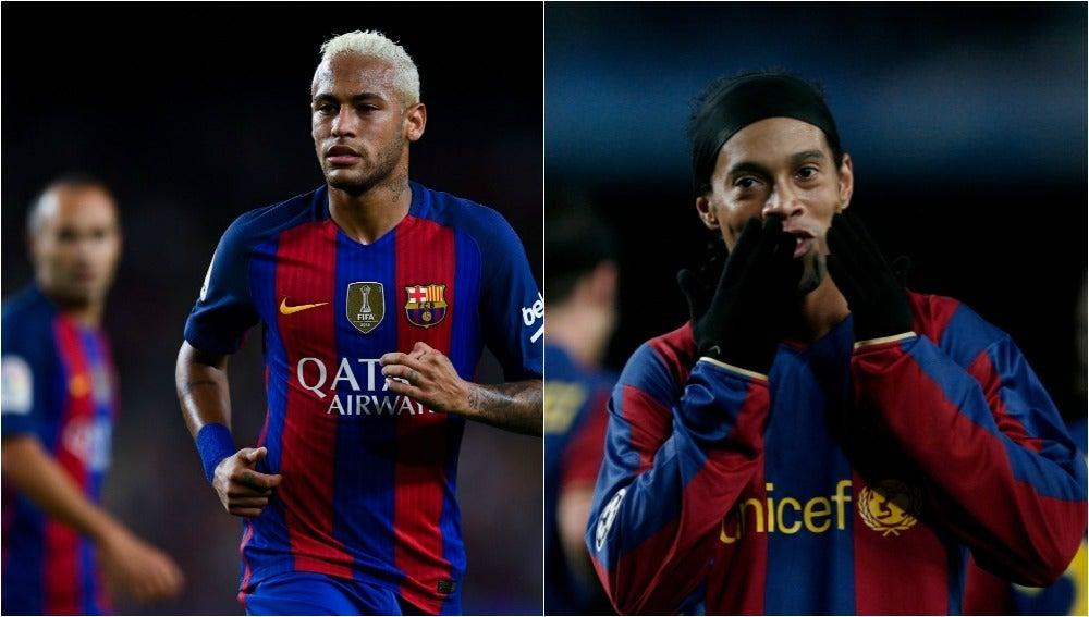 Neymar puede superar los 18 goles de Ronaldinho en competición europea con el Barça.