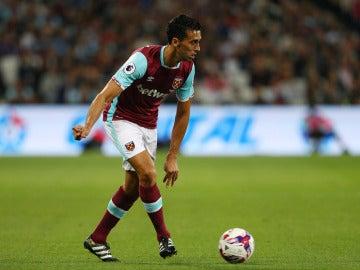 Arbeloa debutando con el West Ham en la Premier.