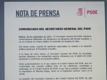 """Frame 0.0 de: Pedro Sánchez contesta a Felipe González: """"El voto en contra fue una decisión respaldada por el Comité Federal"""""""
