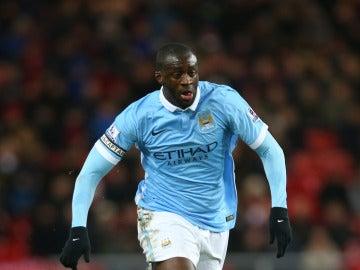 Touré Yayá, en uno de sus últimos partidos con el City