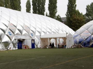 Centro de acogida de refugiados de Berlín