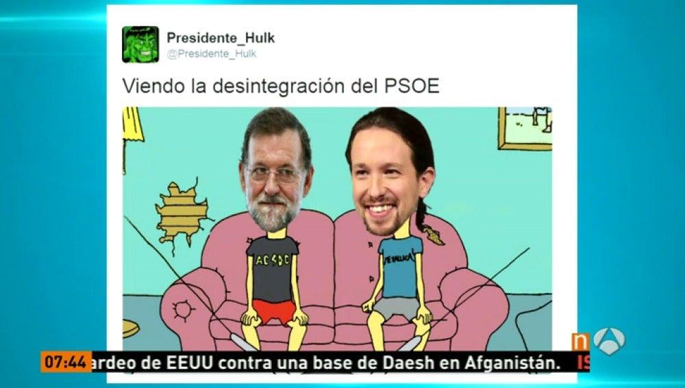 Frame 65.039865 de: La red se llena de memes por la crisis del PSOE