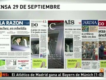 Frame 128.390329 de: Así reflejan los principales medios escritos la inestabilidad del PSOE