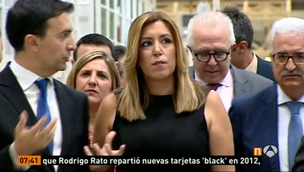 Frame 0.316426 de: Suasa Díaz centra las miradas tras su paso adelante y las reuniones del PSOE andaluz previstas esta tarde