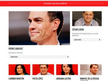 Página web del PSOE