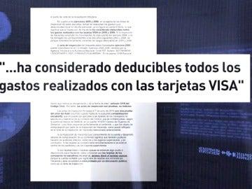 """Frame 27.852615 de: Antena 3 ha accedido a documentos con la estrategia de la defensa de """"algunos acusados"""" de las tarjetas opacas"""