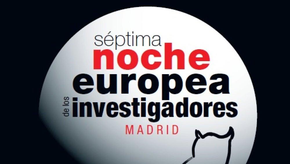 Cartel de la próxima Noche de los Investigadores en Madrid