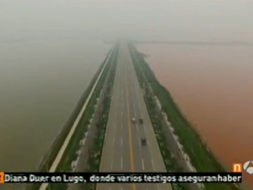 El lago rojo de China