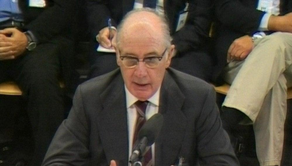 Rodrigo Rato durante su declaración