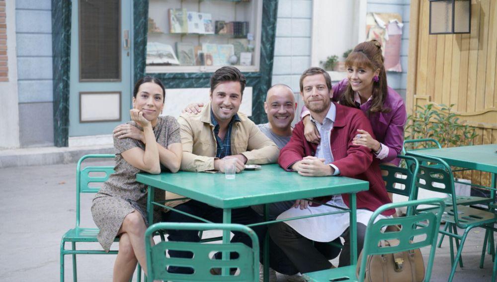 Bustamante se estrena como actor en el rodaje de 'Amar es para siempre'