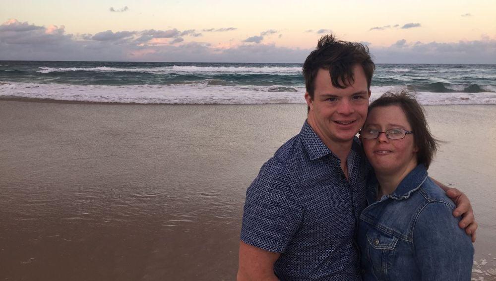La pareja australiana con síndrome de Down