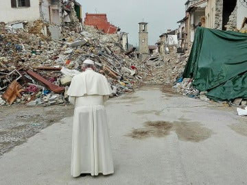 El Papa Francisco en Amatrice
