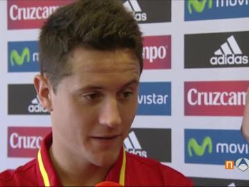 Ander Herrera, en la entrevista con Javier Hernández