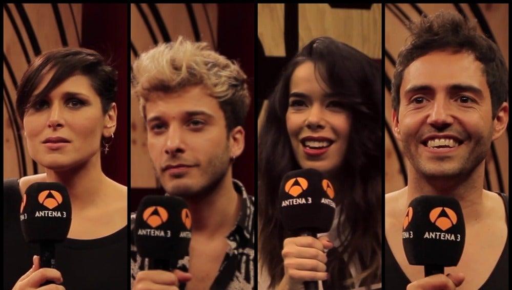 Rosa López, Blas Cantó, Beatriz Luengo y David Guapo en 'Tu cara me suena'